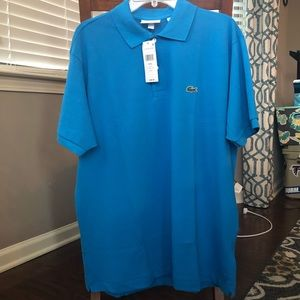 NWT blue Lacoste polo